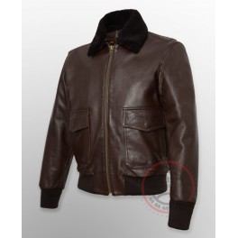 "Giubbotto in Pelle G-1/AG - Colletto ""BROWN"""